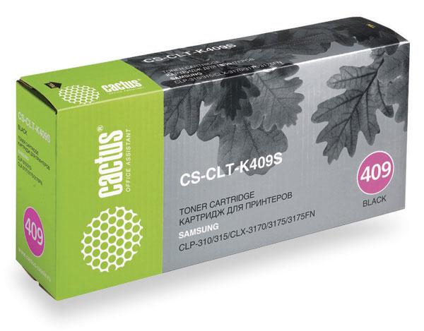 все цены на Тонер-картридж CACTUS CS-CLT-K409S для принтеров Samsung CLP-310/315; CLX-3170/3175/3175FN, черный, 1500 стр. онлайн