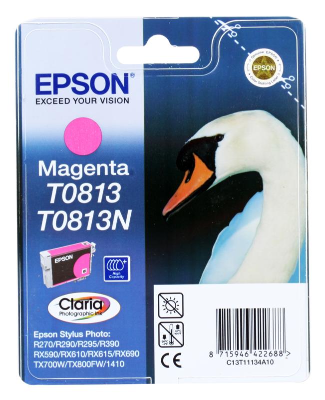 Картридж Epson Original T11134A10 Magenta (повышенной емкости) для R270/ 390/ RX590 картридж superfine r270 черный