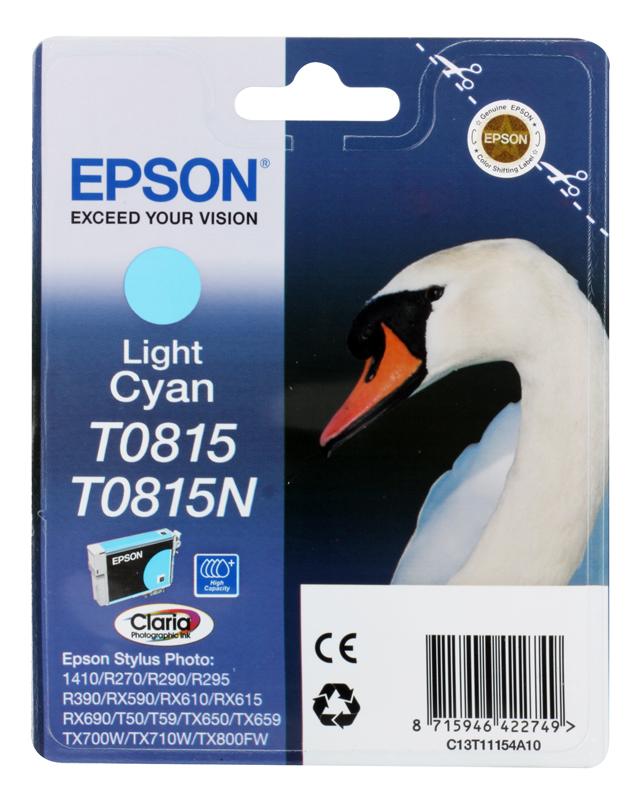 Картридж Epson Original T11154A10 Light Cyan (повышенной емкости) для R270/ 390/ RX590