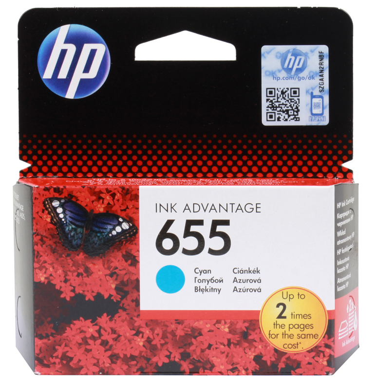 Картридж HP CZ110AE (№ 655) голубой, DJ IA 3525/4615/4625/5525, 600стр картридж hp cz102ae для hp dj ia 2515 2516 трехцветный