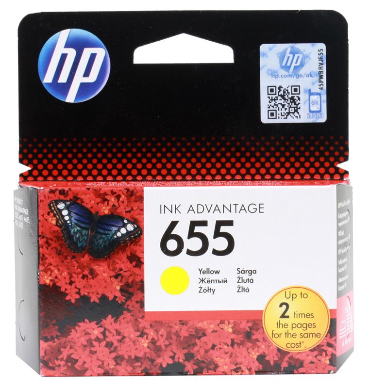 Картридж HP CZ112AE (№ 655) желтый, DJ IA 3525/4615/4625/5525, 600стр 4625 181
