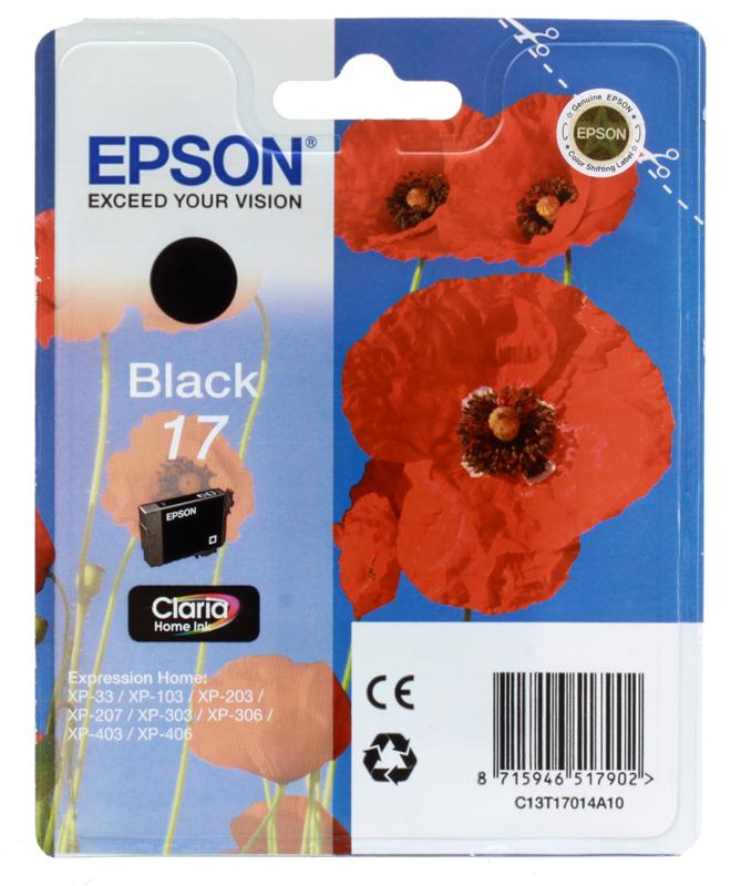 Картридж Epson Original T17014A10 Expression Home XP черный цена 2017
