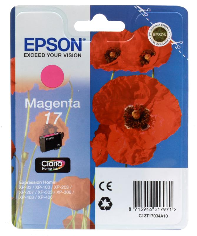 Картридж Epson Original T17034A10 Expression Home XP пурпурный снпч epson expression premium xp 650