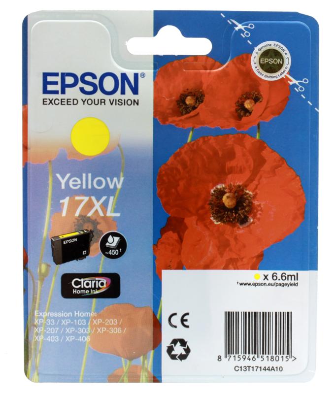 Картридж Epson T17144A10 желтый (yellow) 450 стр для Epson Expression Home XP-33/207