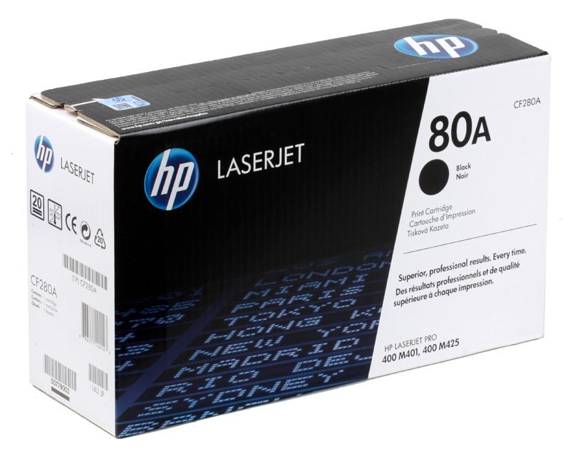 Картридж HP CF280A (80A) LJ Pro 400 M401/Pro 400 MFP M425, черный (2700 стр) цены онлайн