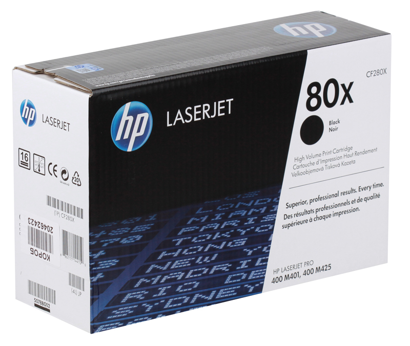 Картридж HP CF280X (80X) LJ Pro 400 M401/Pro 400 MFP M425, черный (6900 стр) toner cartridge compatible hp cf280x for hp 400 m401n m401dn m401d pro 400 mfp m425dw