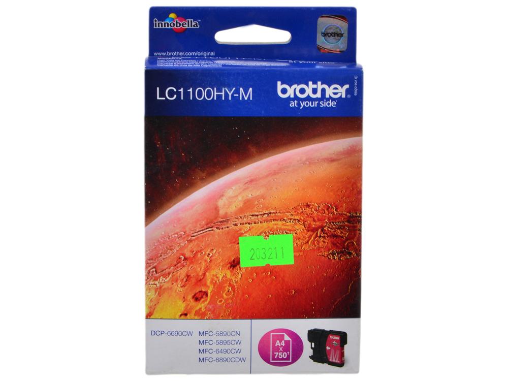 Картридж струйный Brother LC1100HYM картридж струйный brother lc663c