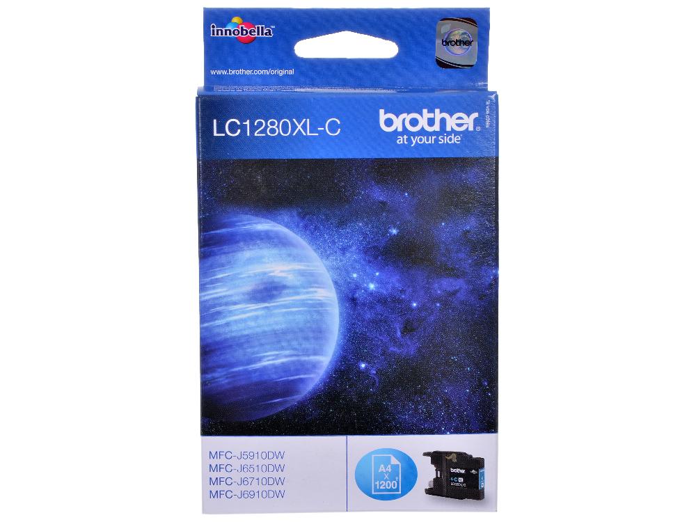 Картридж струйный Brother LC1280XLC brother lc1280xlc голубой