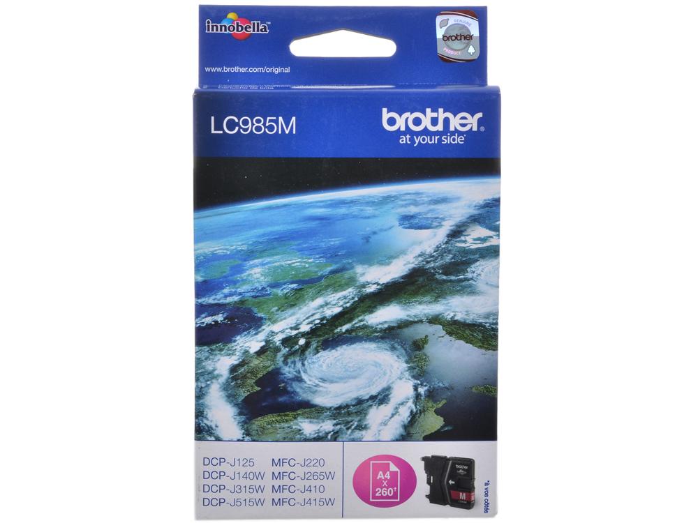 Картридж струйный Brother LC985M картридж струйный brother lc985m