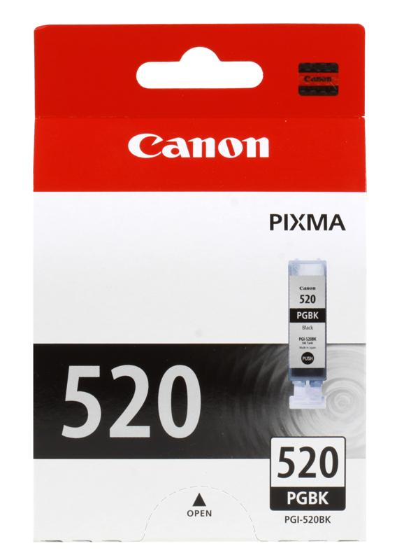 Картридж Canon PGI-520BK Twin для iP3600/iP4600/MP190/MP260 /MP540/MP620/MP630/MP980. Двойная упаковка. Чёрный. 330 страниц/шт. hi black canon pgi 520bk для pixma ip3600 4600 4700 mp540 620 980 black