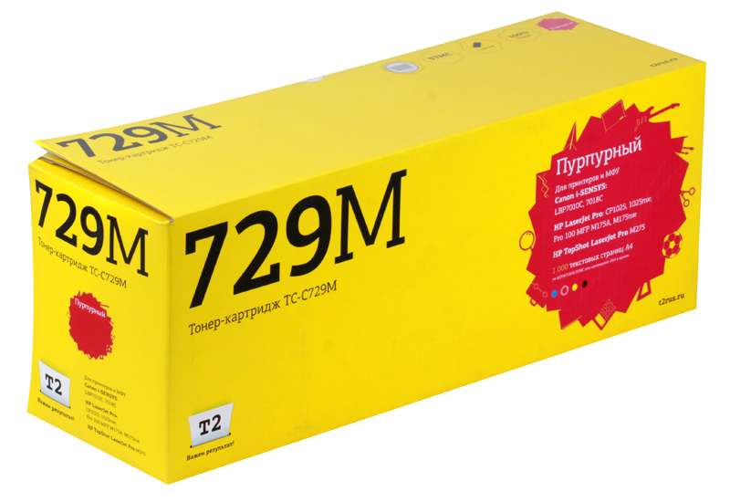 Картридж T2 TC-C729M Magenta (с чипом) цена 2017