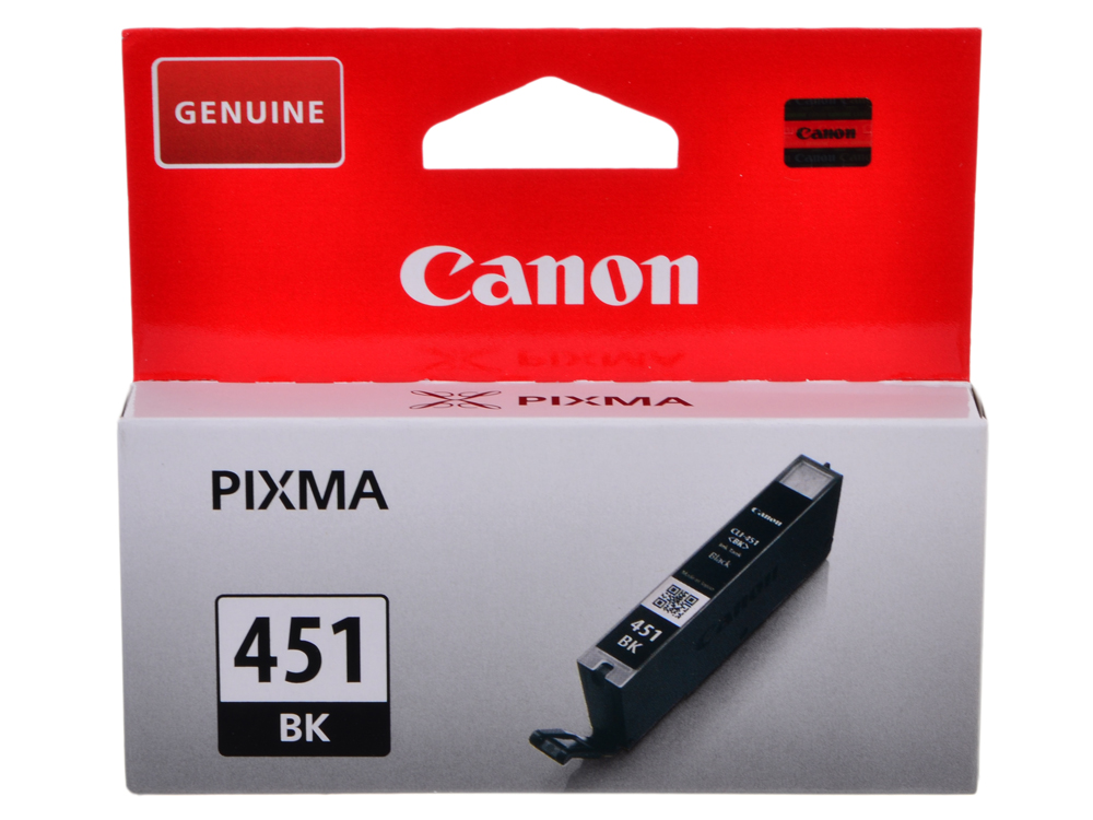 Картридж Canon CLI-451BK для MG6340, MG5440, IP7240, 1100 страниц. картридж canon cli 451y 6526b001 для canon pixma ip7240 mg6340 mg5440 желтый