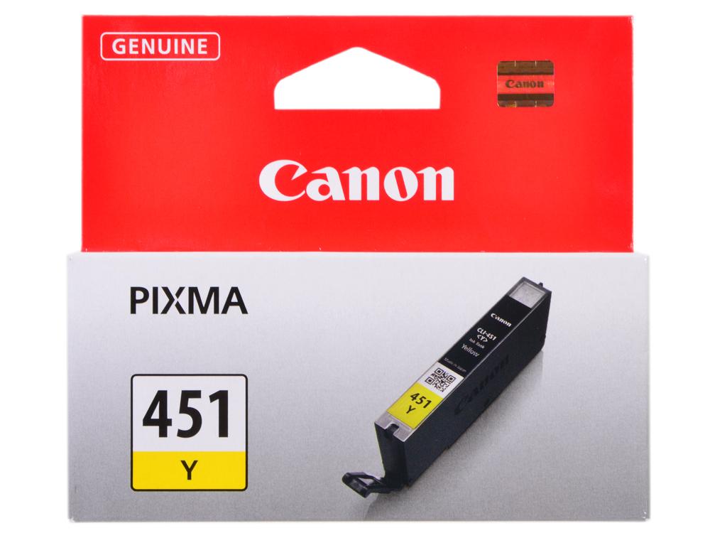 Картридж Canon CLI-451Y для MG6340, MG5440, IP7240 . Жёлтый. 344 страниц. картридж canon cli 451y 6526b001 для canon pixma ip7240 mg6340 mg5440 желтый