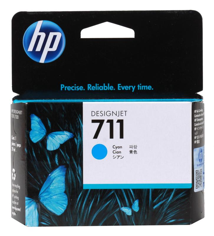 Картридж HP CZ130A для T120/T520. Голубой. 29 мл. (№711) картридж hp 711 с голубыми чернилами 29мл cz130a