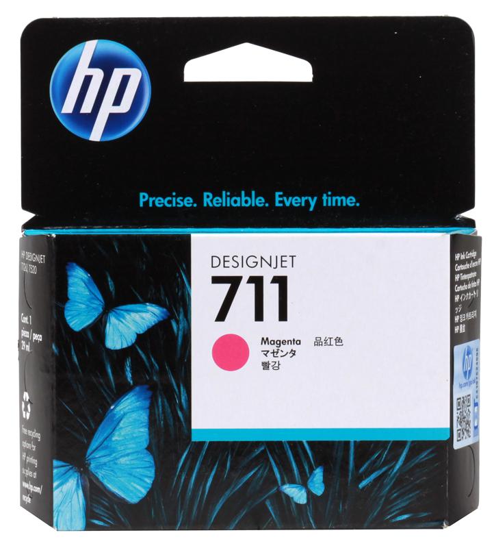 Картридж HP 711 с пурпурными чернилами 29мл CZ131A картридж hp 711 с голубыми чернилами 29мл cz130a