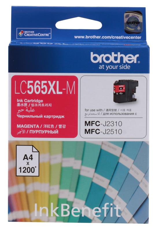 Картридж струйный Brother LC565XLM картридж струйный brother lc663c