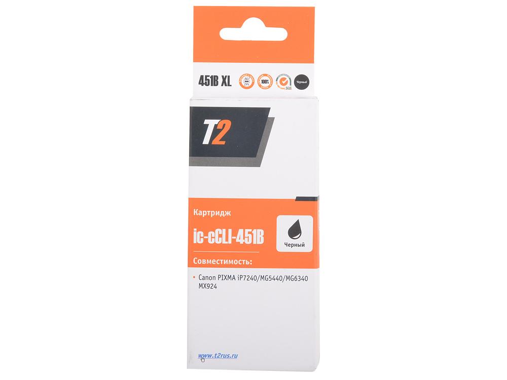 Картридж T2 CCLI-451BK XL (с чипом) картридж t2 ccli 451y xl с чипом
