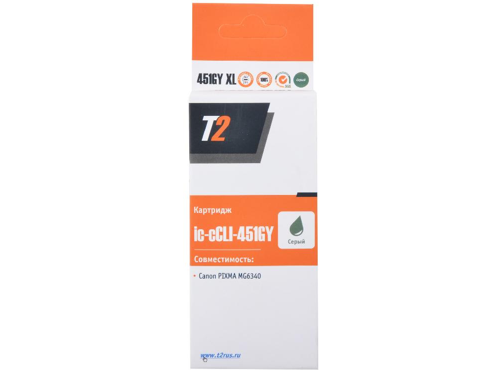 цена Картридж T2 CCLI-451GY XL (с чипом) онлайн в 2017 году