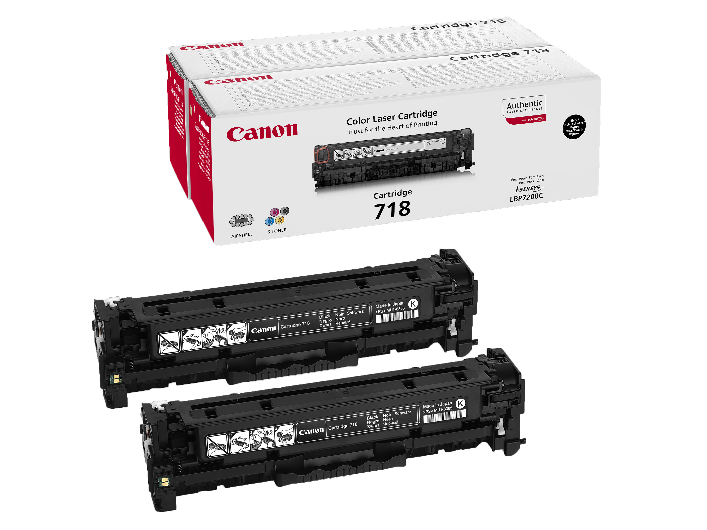 Картридж Canon 718 BK H для LBP-7200. Чёрный. 3400 страниц. Двойная упаковка. картридж canon 725 для lbp 6000 lbp 6000b чёрный 1600 страниц