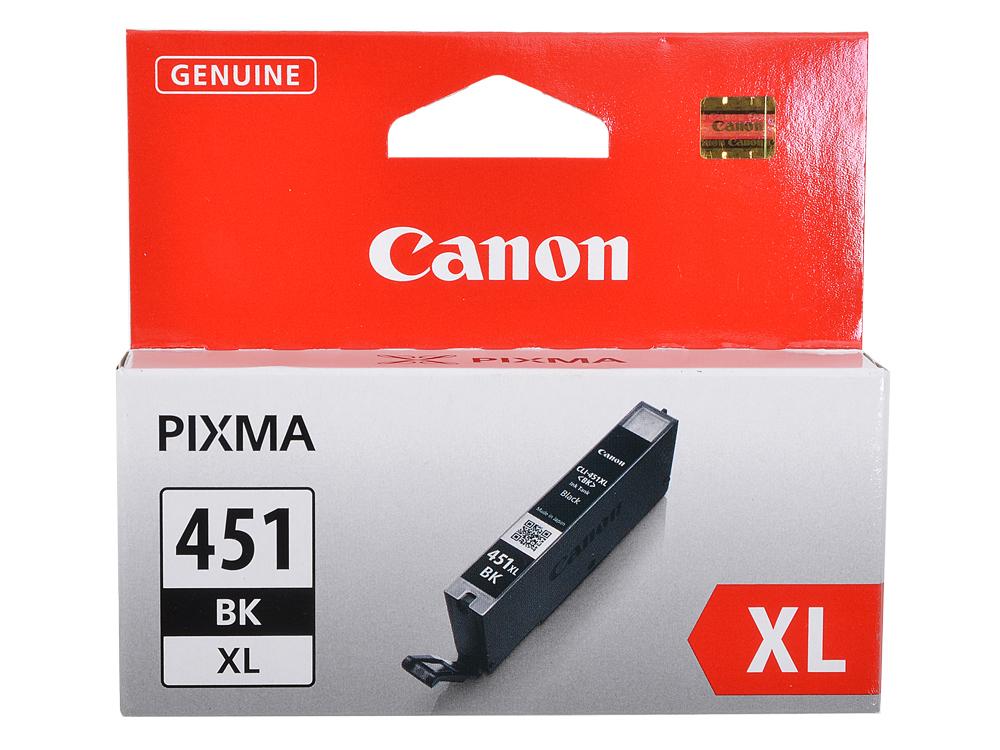 Картридж Canon CLI-451BK XL для MG6340, MG5440, IP7240 . Чёрный. 4425 страниц. картридж canon cli 451y 6526b001 для canon pixma ip7240 mg6340 mg5440 желтый