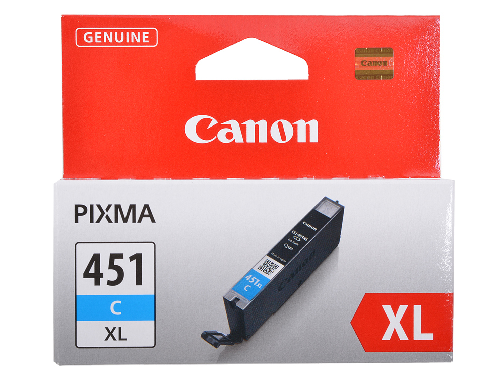 Картридж Canon CLI-451C XL для MG6340, MG5440, IP7240 . Голубой. 665 страниц. картридж t2 ccli 451c xl с чипом для canon pixma ip7240 mg5440 6340 mx924 пурпурный