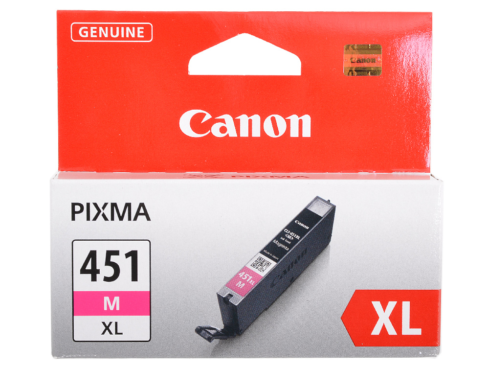 Картридж Canon CLI-451M XL для MG6340, MG5440, IP7240 . Пурпурный. 660 страниц. картридж canon cli 451y 6526b001 для canon pixma ip7240 mg6340 mg5440 желтый