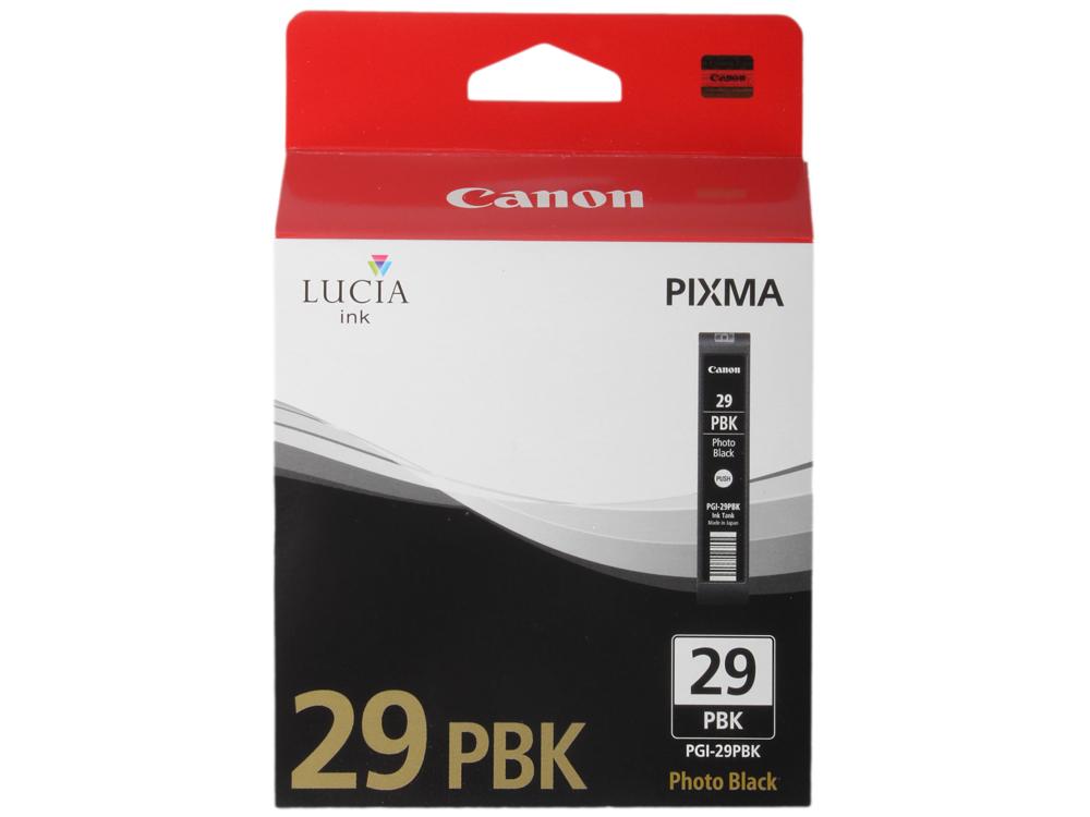Фотокартридж Canon PGI-29PBK для PRO-1. Чёрный. 111 страниц. фотокартридж canon pgi 29pc для pro 1 голубой 400 страниц