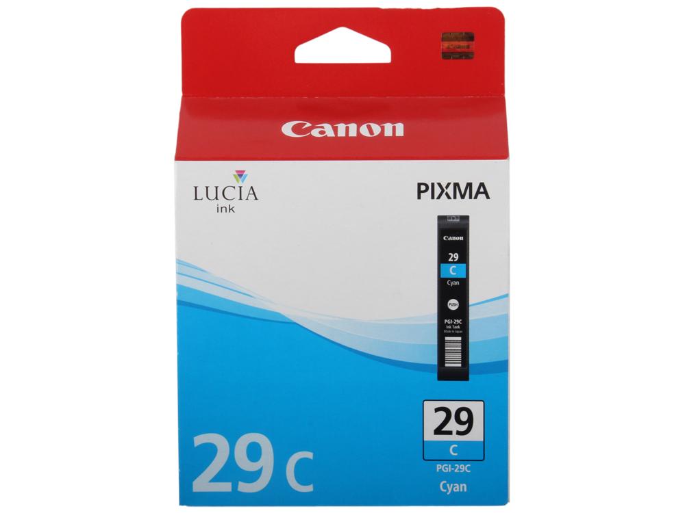 Картридж Canon PGI-29C для PRO-1. Голубой. 230 страниц. фотокартридж canon pgi 29pc для pro 1 голубой 400 страниц