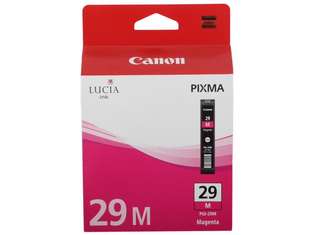 Картридж Canon PGI-29M для PRO-1. Пурпурный. 281 страниц. фотокартридж canon pgi 29pc для pro 1 голубой 400 страниц