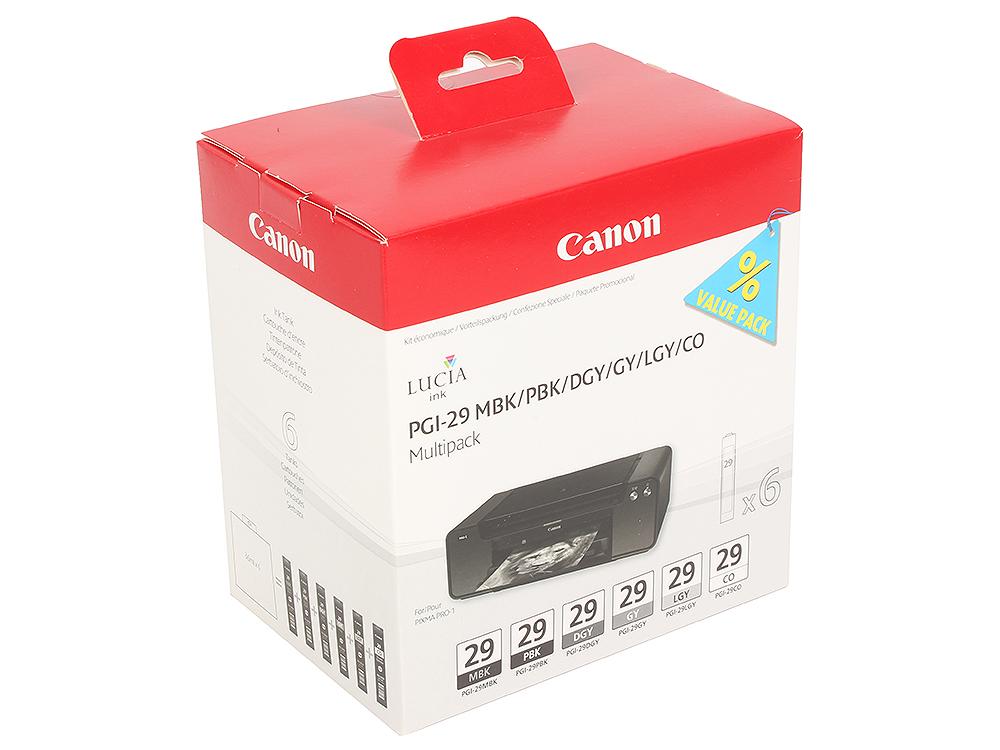 Набор картриджей Canon PGI-29 MBK/PBK/DGY/GY/LGY Multi для PRO-1 картридж canon pgi 29 pbk 4869b001