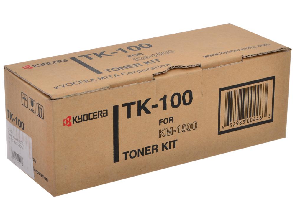 Тонер Kyocera TK-100 для KM-1500. Чёрный. 6000 страниц. new original kyocera 2fb16050 idle belt roller for km 8030 6030 ta820 620