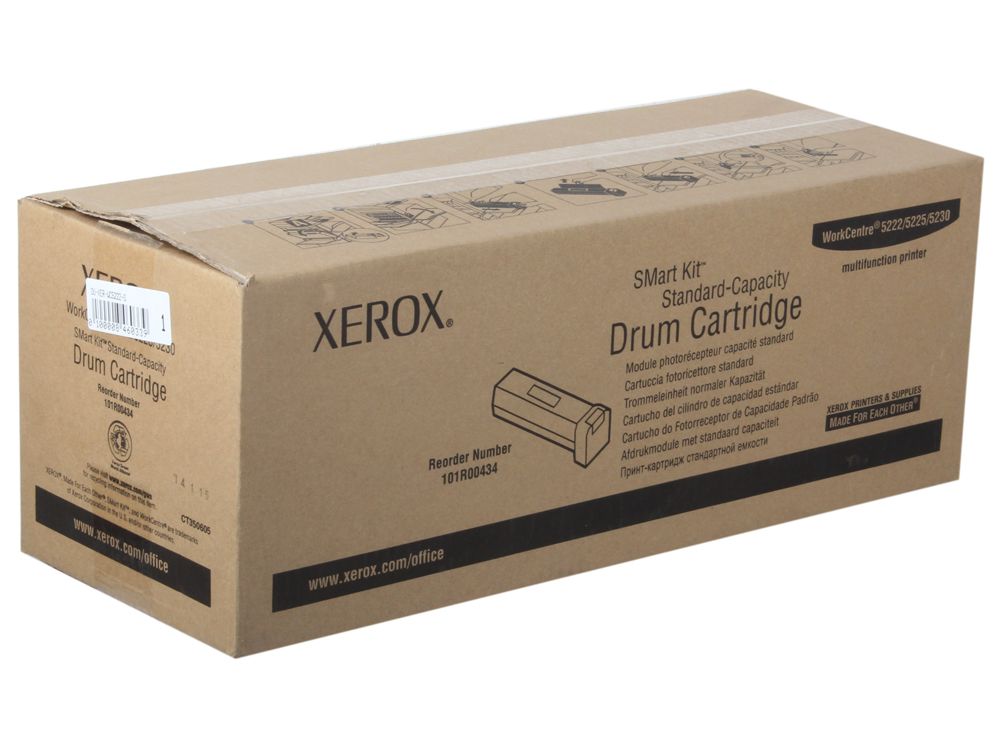 Фотобарабан Xerox 101R00434 для WC 5222/5225/5230. Чёрный. 50000 страниц. фьюзерный модуль xerox 126k24993 175 000 стр для xerox workcentre 5222 5225 5230