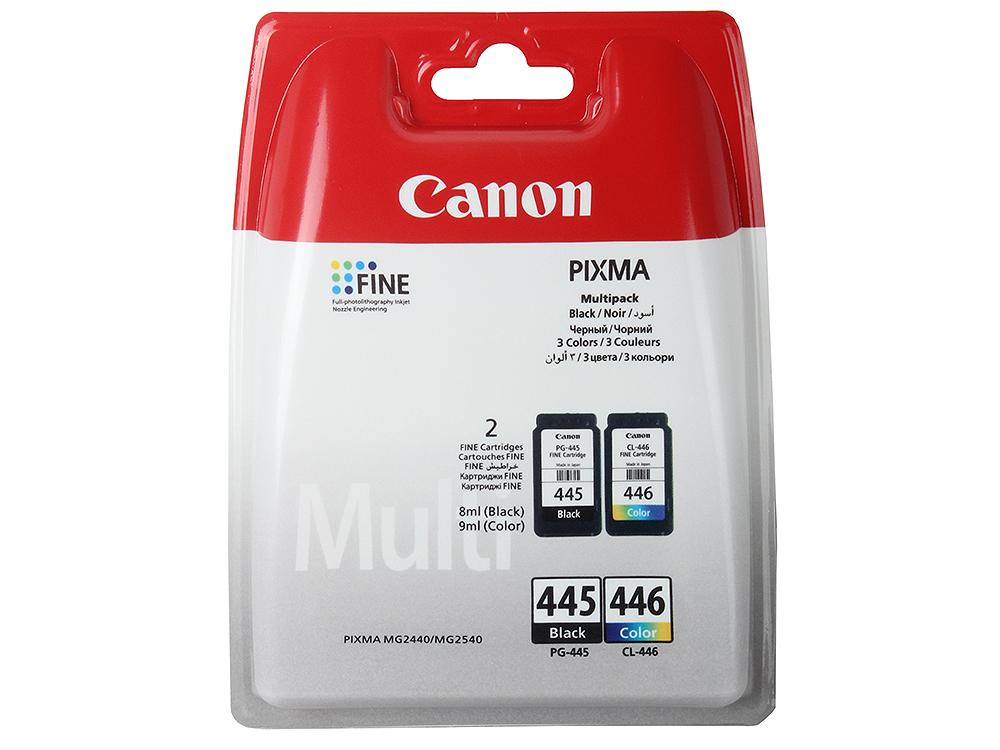 цена Набор картриджей Canon PG-445/CL-446 для MG2440/2540. Чёрный/Цветной. 2*180 страниц. онлайн в 2017 году