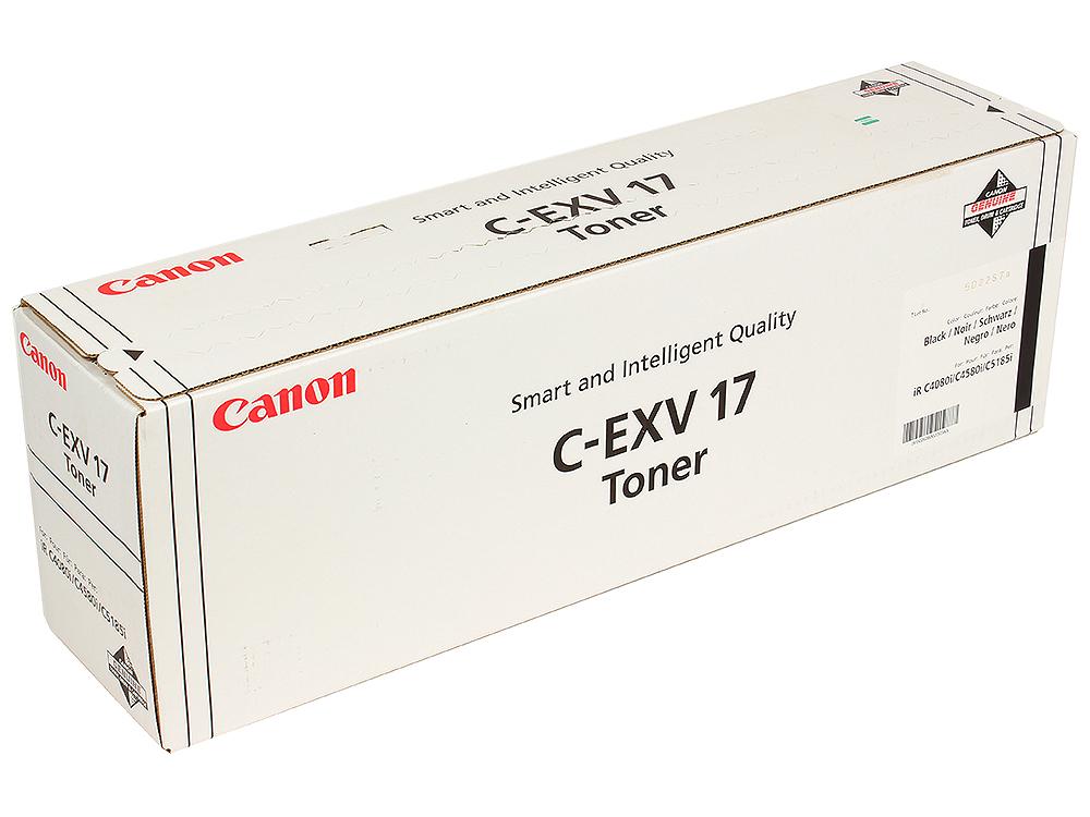 Тонер-картридж Canon C-EXV17Bk картридж canon c exv48c 9107b002