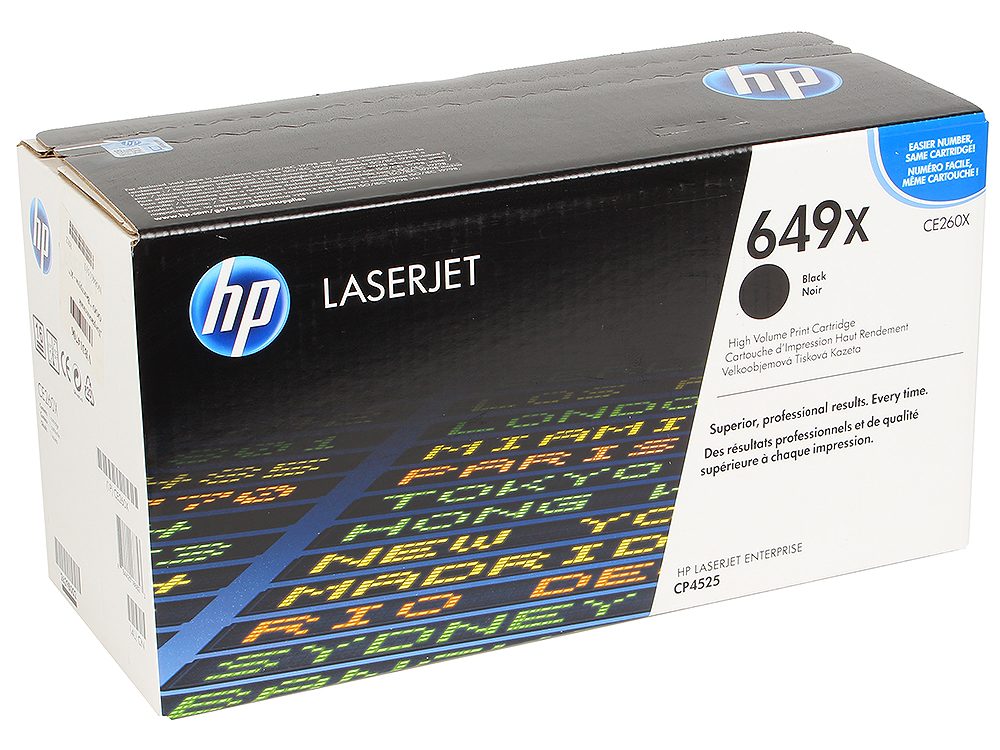 Картридж HP CE260X для HP Color LaserJet CP4525. Чёрный. 17 000 страниц. hp hp 649x ce260x