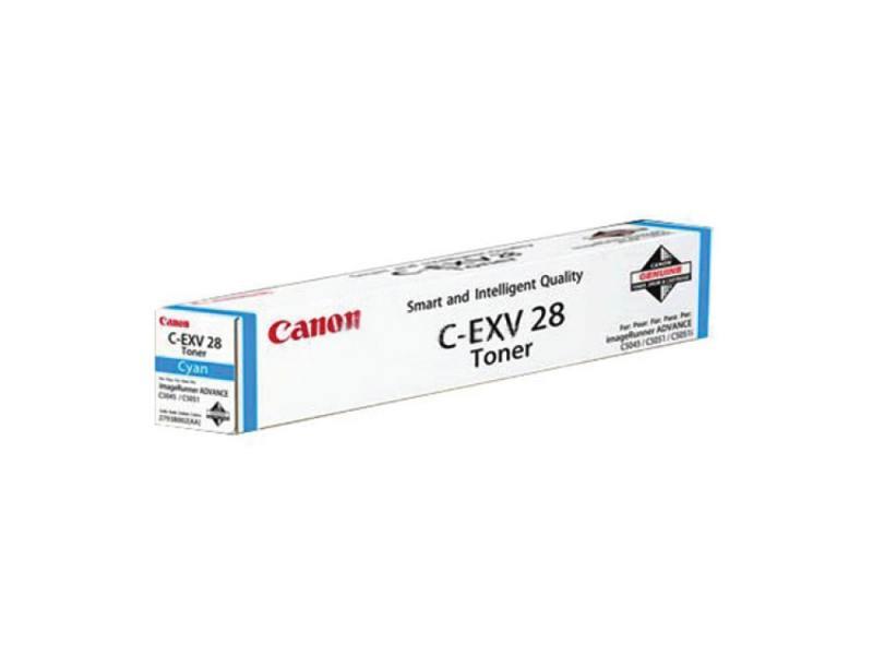 Тонер-картридж Canon C-EXV28 C для iR-ADV C5030, iRC5035, iRC5045, iRC5051. Голубой. 38000 страниц. тонер картридж canon c exv21c для ir c2880 ir c2880i ir c3380 ir c3380i голубой 14000 страниц