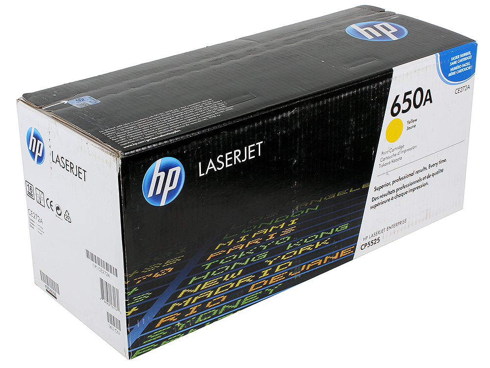 Картридж HP CE272A для LJ CP5520/5525. Жёлтый. 15 000 страниц. спец hp 24 000