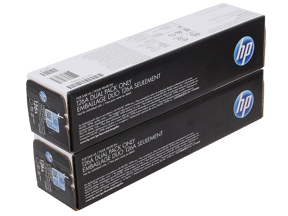 Картридж HP CE310AD (№126A) для цветных принтеров HP LaserJet Pro CP1025. Черный. 1200 страниц. Двойная упаковка. картридж hp ce312a 126a желтый laserjet cp1025