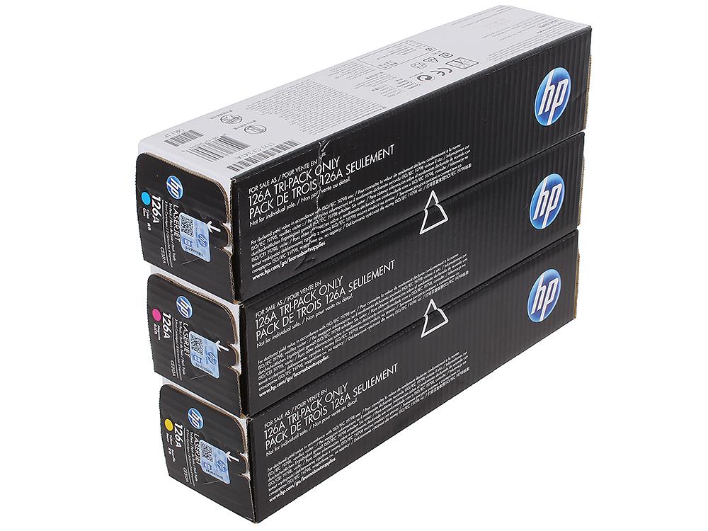 Картридж HP CF341A для цветных принтеров HP LaserJet Pro CP1025, желтый/голубой/пурпурный. 1000 страниц. Тройная упаковка. картридж hp cf533a hp 205a для hp laserjet m180 m181 пурпурный 900 страниц