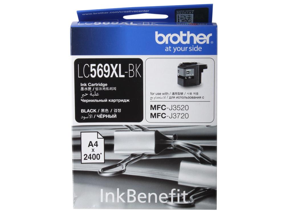 Картридж струйный Brother LC569XLBK картридж струйный brother lc985m