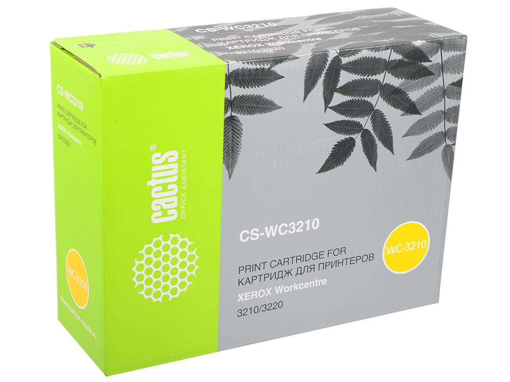 Картридж CACTUS CS-WC3210 для Xerox WorkCentre 3210 3220. Чёрный. 2000страниц. картридж cactus cs wc7120y 006r01462 для xerox wc 7120 7120t 7125s 7220 7120s 7125 7125t 7225 желтый 15000стр