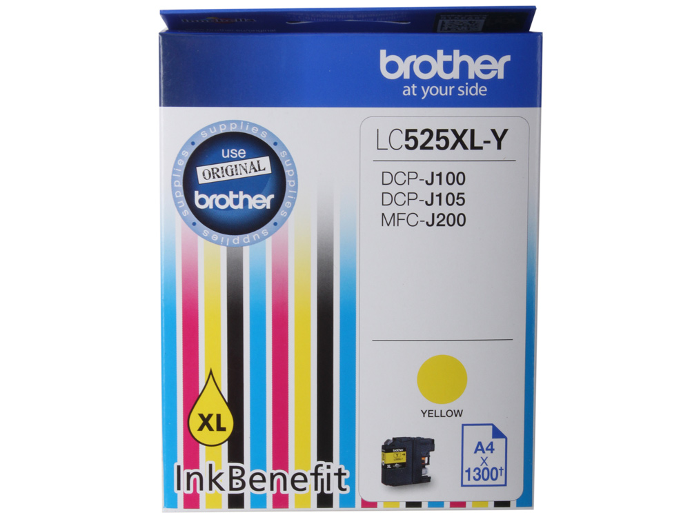Картридж струйный Brother LC525XLY цена 2017