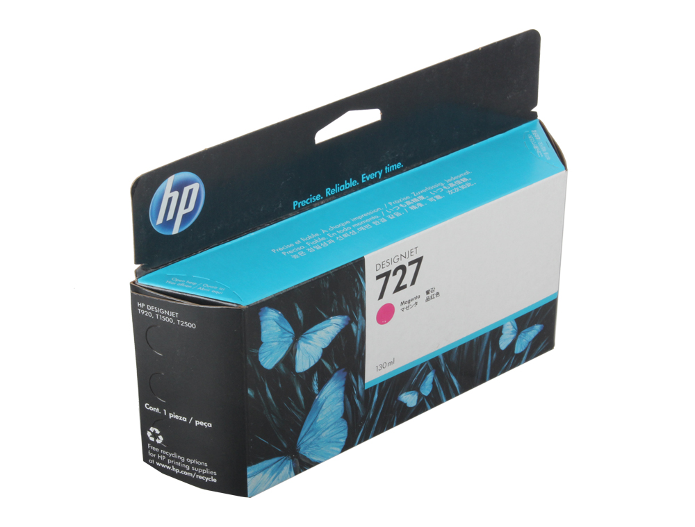 Картридж HP B3P20A №727 для Designjet T920, T930, T1500, T1530, T2530. Пурпурный. 130-ml free shipping q5669 60664 for hp designjet t610 t1100 z2100 z3100 z3200 vacuum fan aerosol fan assembly original used