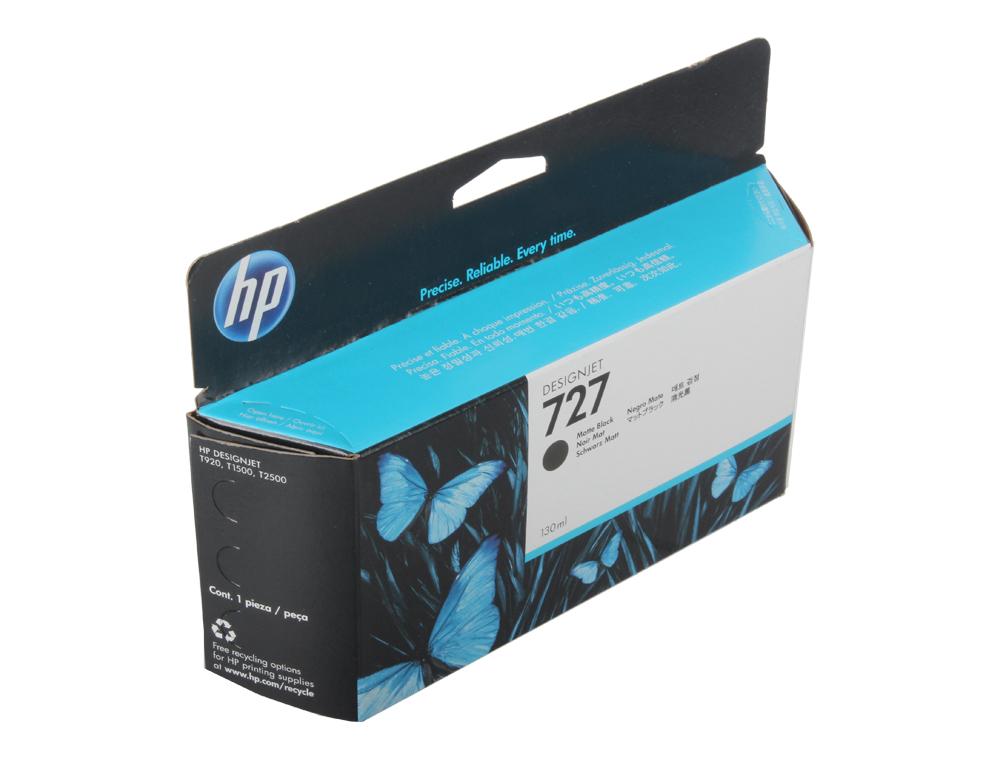 картридж hp 730 струйный черный матовый 130 мл Картридж HP B3P22A №727 для Designjet T920/T1500. Черный матовый. 130-ml