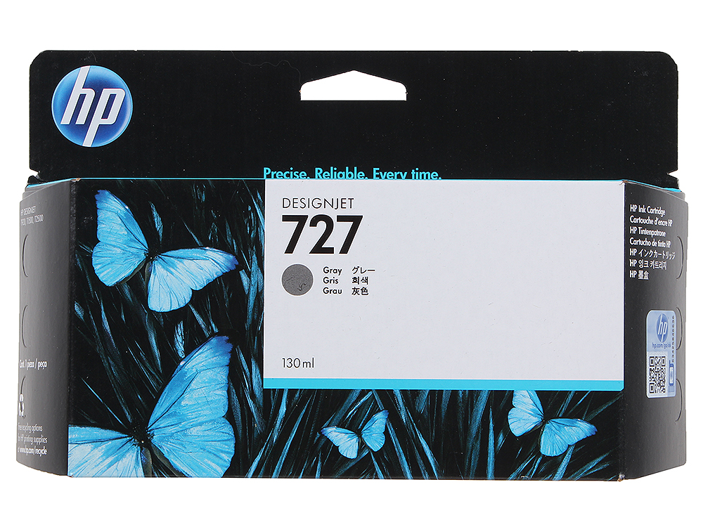 Картридж HP B3P24A №727 для Designjet T920/T1500. Серый. 130-ml цены