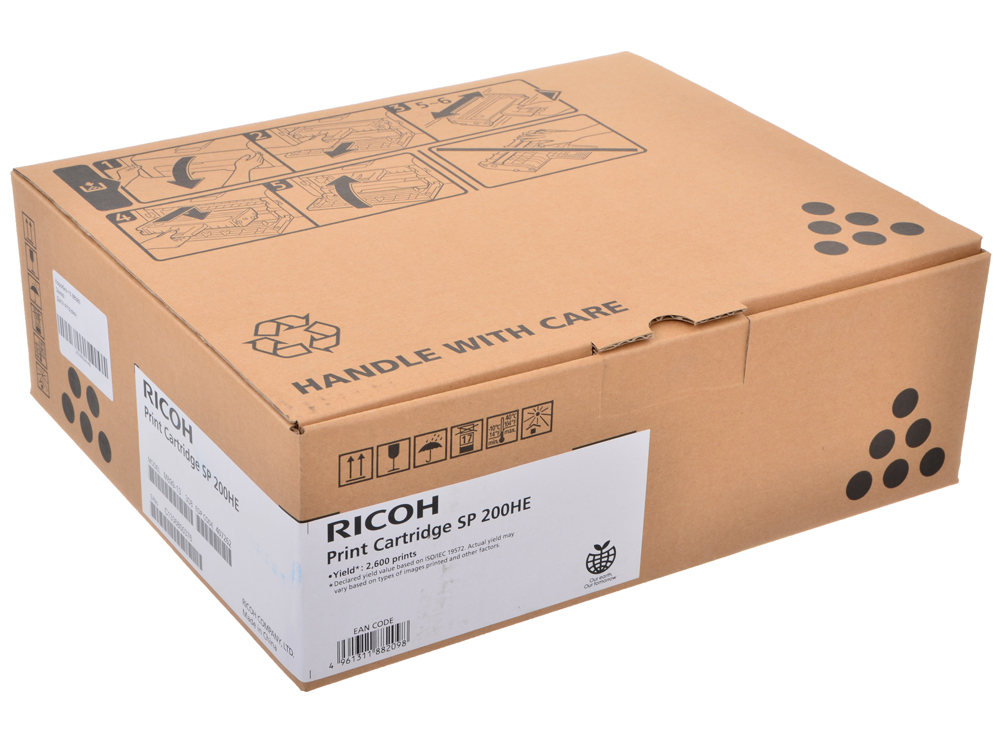 Принт-картридж Ricoh SP 200HE для SP 200N / SP 200S / SP 202SN / SP 203SF / SP 203SFN. Черный. 2600 страниц.