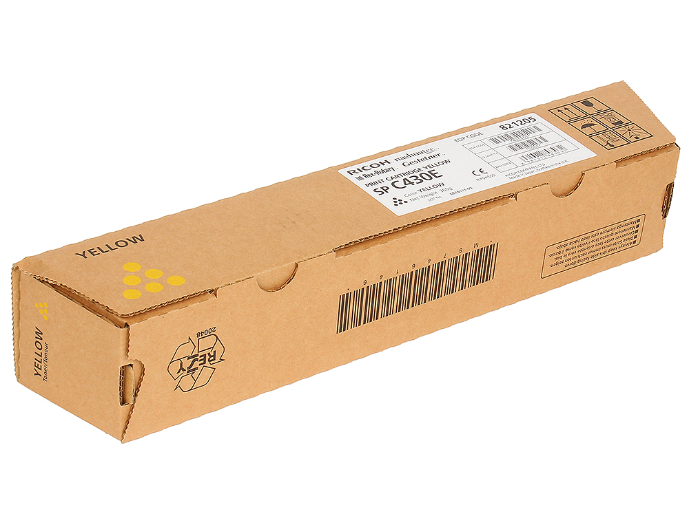 Картридж тип SP C430E для Aficio SP C430DN / SP C431DN. Желтый. 21000 страниц.