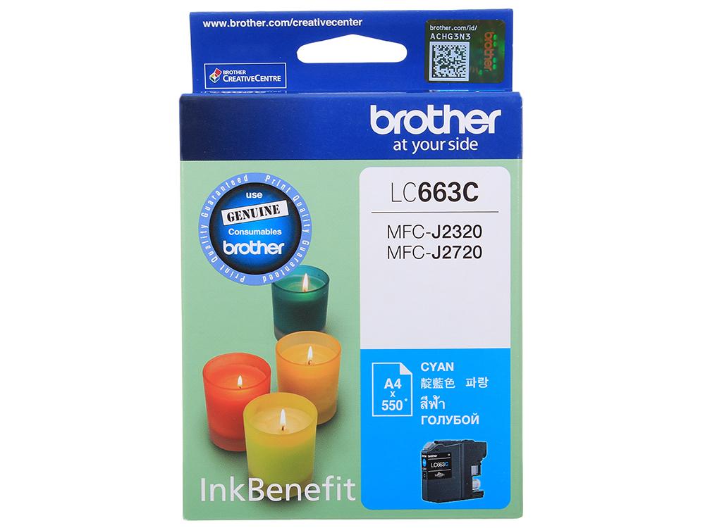 Картридж струйный Brother LC663C картридж струйный brother lc567xlbk