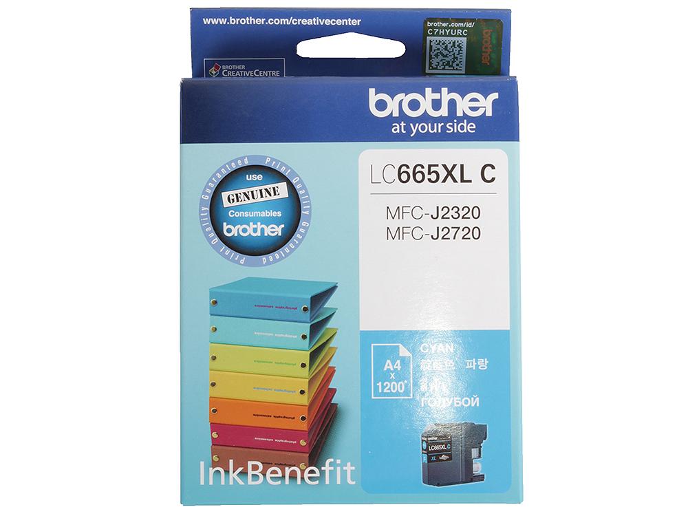 Картридж струйный Brother LC665XLC картридж струйный brother lc663c