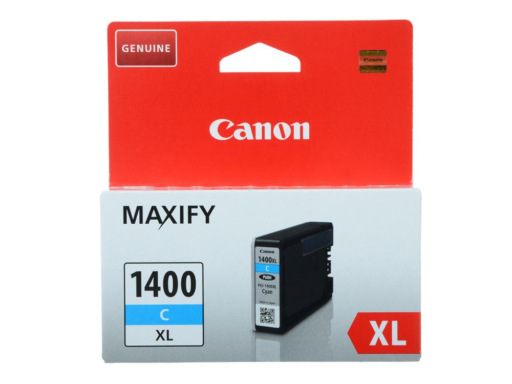 Картридж Canon PGI-1400XL C для MAXIFY МВ2040 и МВ2340. Голубой. 1020 страниц. картридж canon pgi 1400bk c m y xl 9185b004 набор для canon maxify мв2040 2340 черный голубой пурпурный желтый